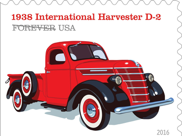 The 1938 International Harvester D-2 had a distinct barrel-shaped grille.