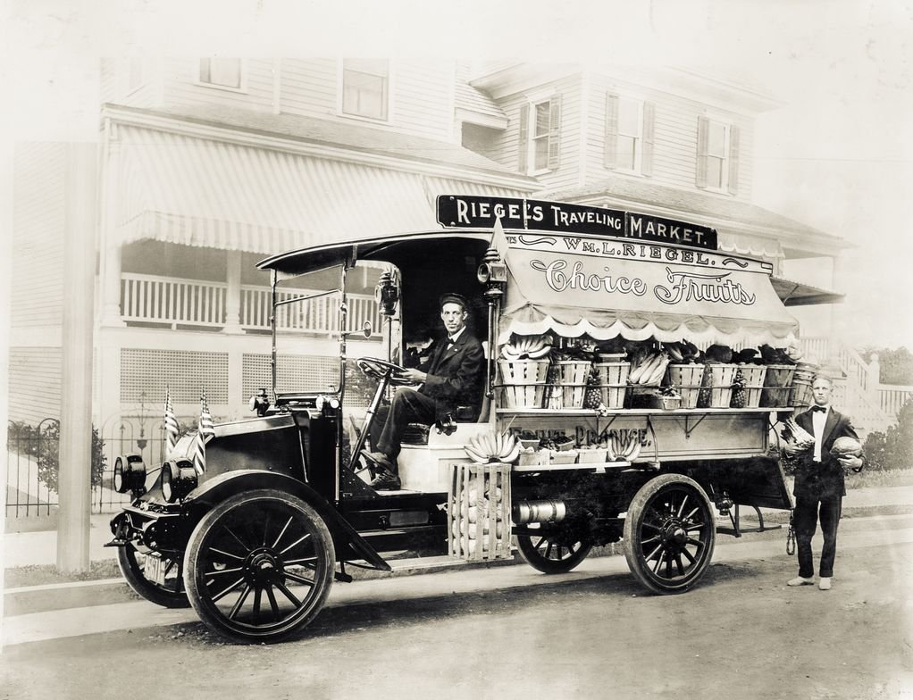 A 1917 Model F fitted with a fruit wagon body.