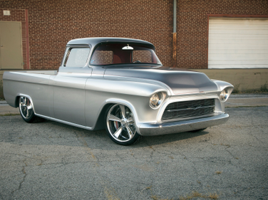 "This 1957 Chevrolet 3100 Custom Truck, better known as ""Quicksilver,"" is a 2014 Barrett-Jackson..."