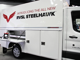 Reading Truck Body introduced the RVSL Steelhawk enclosed van body, which is up to 700-pounds...