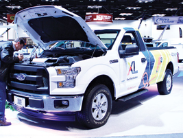 XL presented its battery-electric hybrid Ford F-250 with XLP technology.