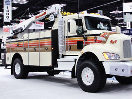 Among Kenworth's displays was a T370 with Summit Service Body and a PACCAR PX-9 engine.