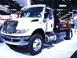 International Trucks unveiled the Class 6-7 MV Series, able to be configured for any medium-duty...