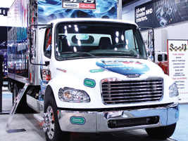 The propane-autogas-powered Freightliner S2G presented its upfit capabilities.
