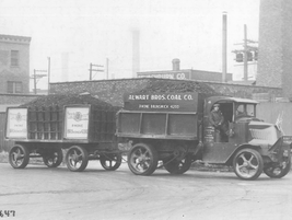This 1920s Alwart Bros Coal Company was another way companys upfit older trucks and trailers to...