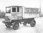 An early 1920s Edwin F. Daniels & Company truck, which hauled coal and coke.