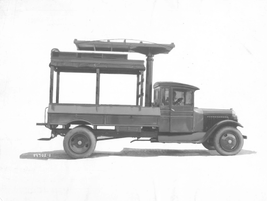 This sketch is of a 1920s electrical truck. 