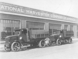 In the 1920s, National Harvester used these trucks with upfits and some heavy duty rear...