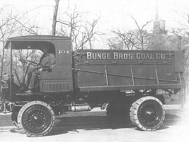 The 1930s brought the Bunge Bros. Coal Co. this beefier model for hauling product. 