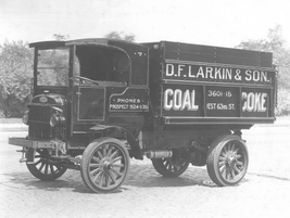 D.F. Larkin & Son delivered product in the 1930s with this early hauler. 