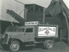 H.N. Lunch Coal Co. utilized this Mack Jr. truck for its coal hauling needs in 1936. 