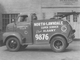 North Lawendale Super Service utilized this crane truck in Chicago in 1937.
