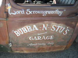 Advertising on side of 1945 Tow Truck.