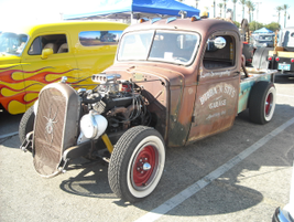 The front view of the 1945 tow truck.