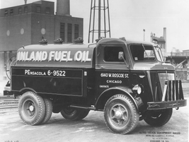 Inland Fuel Oil utilized this upfit dually truck in 1949 in Chicago. 