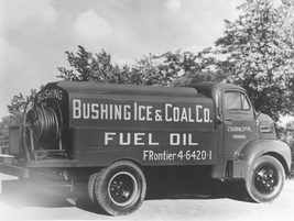 In 1950, Bushing Ice & Coal Col., from Chicago, used its upfit trucks such as the one pictured...