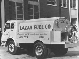In 1955, Lazar Fuel Co. used this 1,600 tank to haul fuel oils in Chicago. 