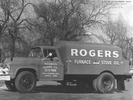 Rogers Furnace and Stove Oil Co. relied on this upfit truck in 1955. 