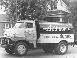 Arrow used this tanker truck in 1956 to deliver its product. 