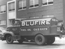 Blufire used a Ford truck wit a tank upfit to deliver product. 
