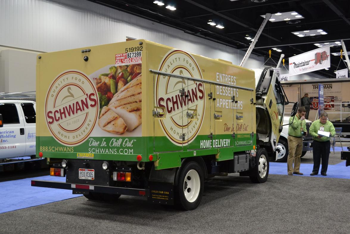 Schwan's Food Service truck by Isuzu Commercial Truck of America.