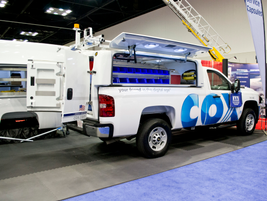 A Cox Enterprises truck outfitted by Maranda Products.