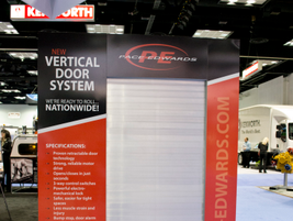 The Vertical Door System by Pace-Edwards and the Truck Accessories Group is a retractable door...