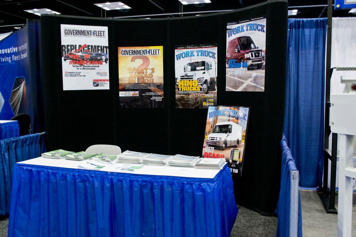 Work Truck Magazine's booth.