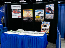 Work Truck Magazine's booth.
