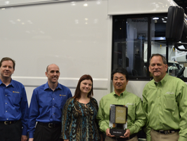 Work Truck magazine presented the Medium-Duty Truck of the Year award to Isuzu and Utilimaster...