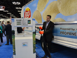 The Propane Education Research Council booth demonstrated safe refusing practices of propane...