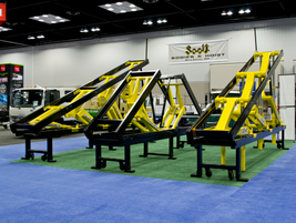 Scott Bodies & Hoist booth.