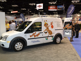 Leggett & Platt upfited Ford Transit Connect for ByeBye Bugs.