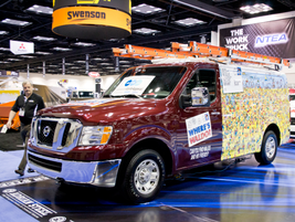 "Adrian Steel also had a Nissan NV2500 outfitted with a ""Where's Waldo"" graphic wrap. Look..."