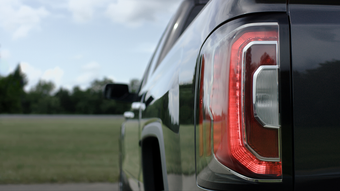 2016 GMC Sierra new rear taillights.