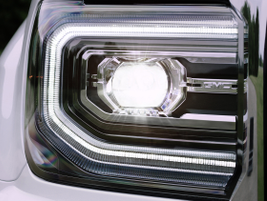 2016 GMC Sierra SLT new LED headlights.