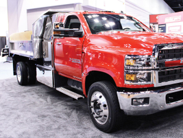 General Motors unveiled its medium- duty lineup, surprising attendees with its Class 6 Silverado...