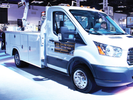 Ford displayed its new, 2019 Ford Transit Connect Wagon as well as several upfits for the...