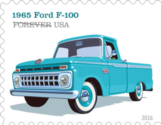 The 1965 Ford F-100 had a new grille that featured 18 small rectangular openings. It also...