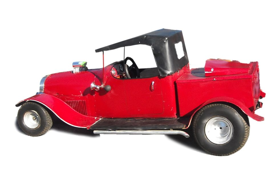"""A fun little """"baby"""" hot rod truck, that really worked!"""