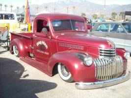 """Bag-man"" 1945 Chevrolet truck."