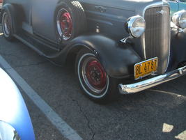 1936 Chevrolet with side-mounted spare.