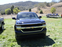 The 2016 Chevrolet Silverado Work Truck has a new grill design that harkens back to its...