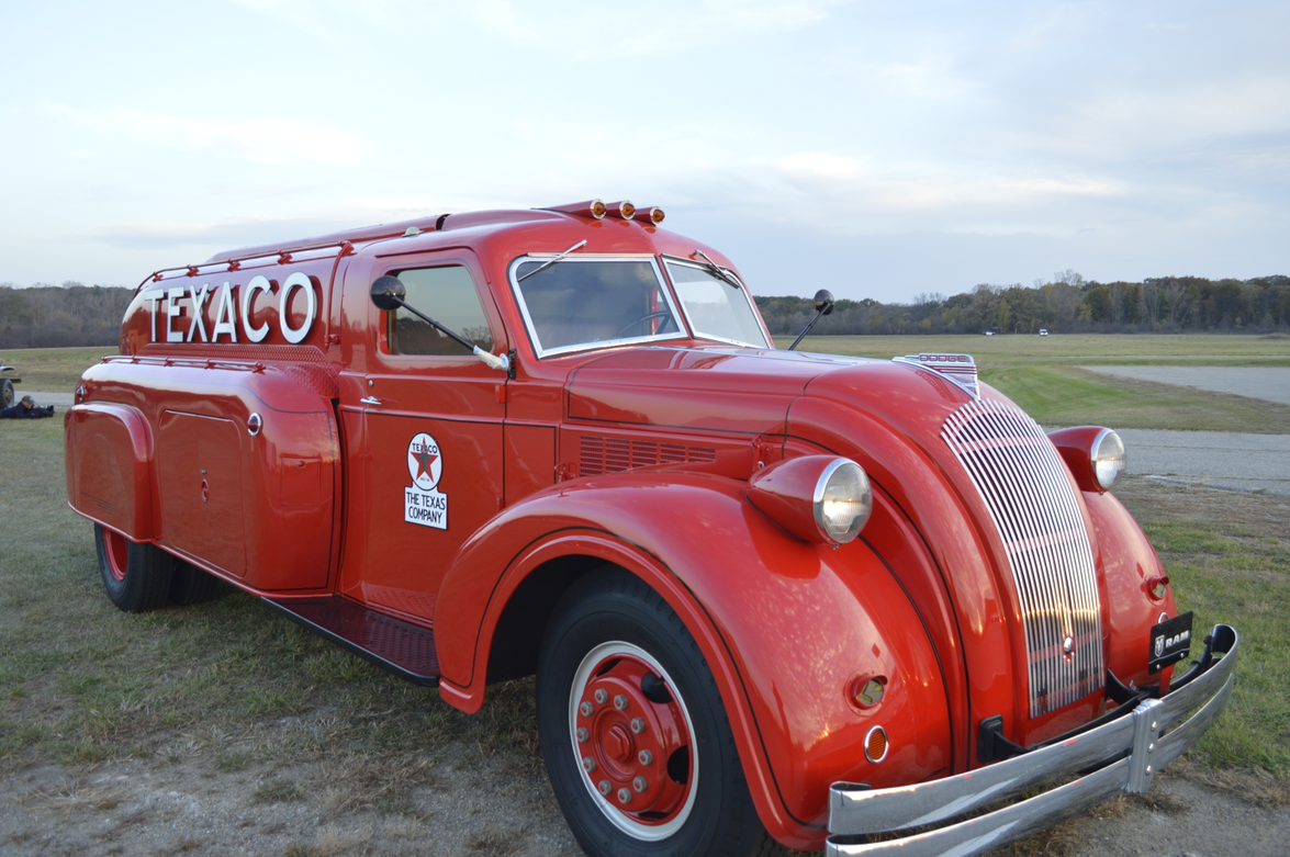 A 1938 Dodge Airflow Tranker Truck was on display. This was the only classic vehicle media...