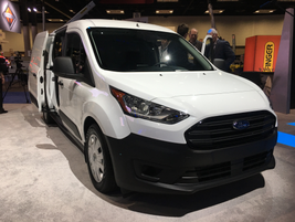 Ford's 2019 Transit Connect compact cargo van is adding a diesel engine option, fleet model that...