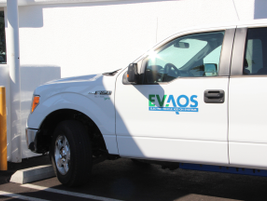 EVAOS adds badging to the vehicles to identify it as a hybrid.