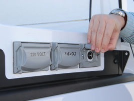 The truck exterior outlets also provide an outlet for USB cords, a must with today's technology.