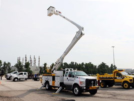 Ford displayed a variety of vehicles, including the F-750 Tonka Mighty Diesel, whch has been...