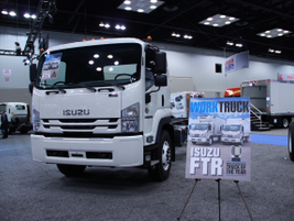 Isuzu displayed its FTR, which made its debut in the 2018 model-year. The company also took home...