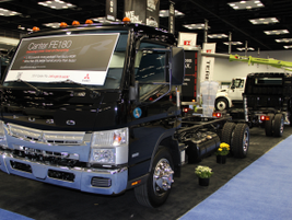 Mitsubishi Fuso featured its 2014 Canter series, including the Canter FE180.